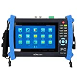 KKmoon 7inch CCTV Onvif IP Camera Tester Touch Screen Monitor HDMI 1080P/PTZ/POE/WIFI/Cable Tracer/FTP Server/IP Scan/Port Flashing/DHCP IPC-8600
