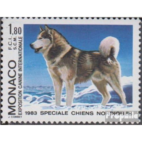 monaco 1576 (complète.Edition.) 1983 exposition canine (Timbres pour les collectionneurs)