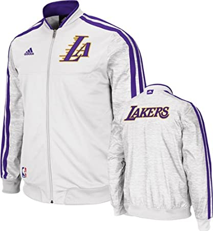 00f25aadd62 Los Angeles Lakers Adidas Home Weekday 2012-2013 Authentic On-court Jacket  - White