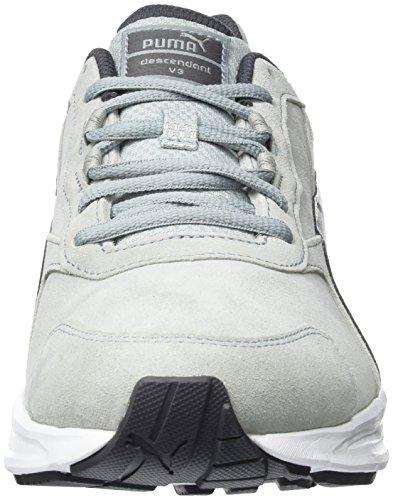Suede Descendant Uomo Sneakers white V3 02 da Puma Grigio Quarry periscope BqpEwB