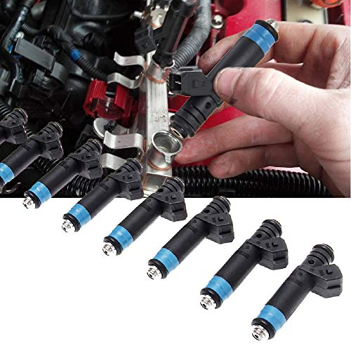 High Impedance 8 Packs Fuel Injectors 110324 FI114992 Hole Nozzle Fits for BMW 530i 1994-1995, Ford Mustang GT 1986-1995, LX and Cobra 5.0L and Pontiac ()