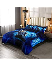 Tie Dye Down Comforter, 3 pcs Boho Exotic Style Boys Girls Comforter Set Chic Hippie Theme Spiral Colorful Duvet Insert Tie Dye Abstract Swirl Quilted Duvet for Adult Women Soft Bedding Comforters