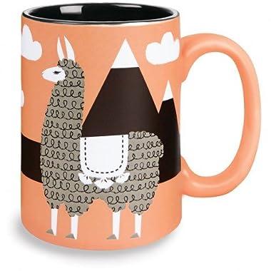 Kitsch'n Glam 16 Oz Mug, Llama, Coral