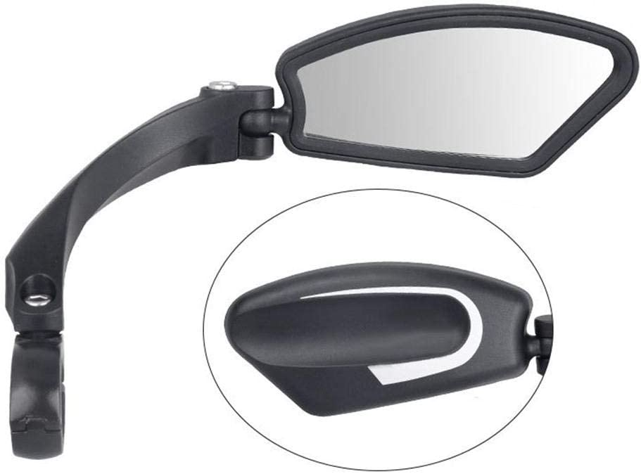 Adjustable Rotatable Bicycle Rearview Safety Mirror with Stainless Steel HD Lens N//Y Bike Mirror Handlebar Mount Wide Angle for Mountain Road Bike