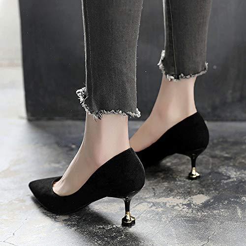 alto Impermeable Zapatos Aguja Alto Plataforma Yukun Acentuados De tacón Otoño Solo Black Mujer 38 Zapatos De Zapatos Rojo De zapatos Tacón De de Rojo Tacón ww6xpTq