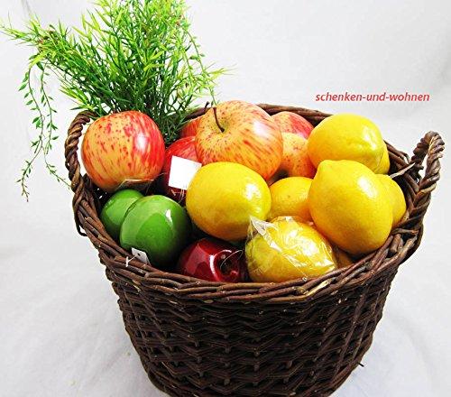 Goldbach Espuma rígida de Poliuretano Apple decoración, 8 x 8,5 cm, Rojo/Naranja: Amazon.es: Hogar