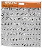 Fiskars 8x8 Inch Sheet Alpha Script Clear Stamps (12-89198897J)