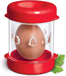 The Negg Boiled Egg Peeler - Red