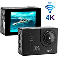XIKEZAN 4K WIFI Action Camera 16MP Waterproof Sports Diving Cam DV Camcorder with 2.0 LCD Screen & 170°Wide Angle