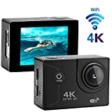 XIKEZAN 4K WIFI Action Camera 16MP Waterproof Sports Diving Cam DV Camcorder with 2.0' LCD Screen & 170°Wide Angle