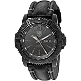 Luminox Men's 'Mariner' Swiss Stainless Steel and Leather Automatic Watch, Color:Black (Model: 6501.BO)