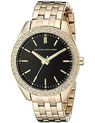 Armani Exchange Womens AX5510 Analog Display Analog Quartz Gold Watch