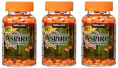 Kirkland Signature Safety Coated Enteric Aspirin, 325 mg, 50