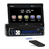 "BOSS Audio BV9986BI - In-Dash, Single DIN, Bluetooth, DVD/CD/MP3/USB/SD AM/FM Receiver, Motorized 7"" Touchscreen, Detachable Front Panel"