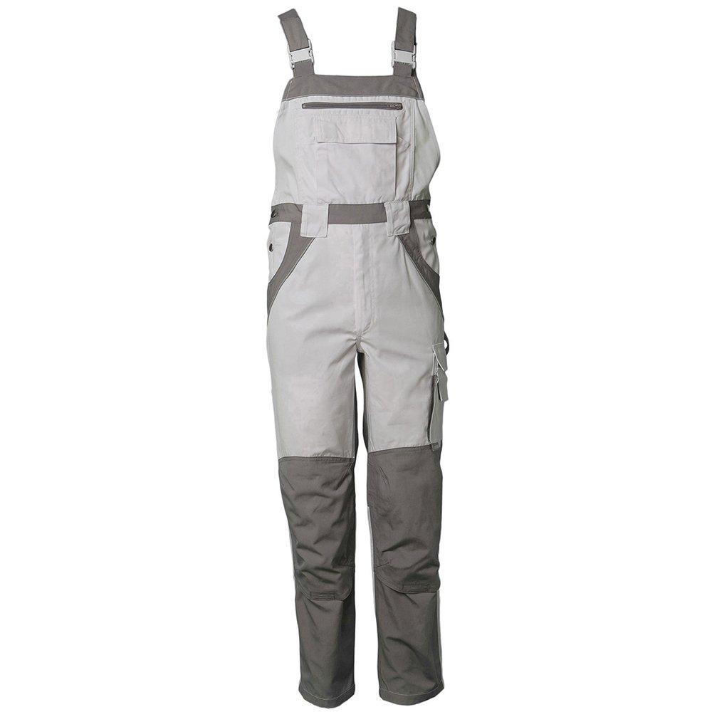 Planam 2523024 Size 24' Plaline Dungarees - Pure White/Zinc