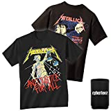 Metallica And Justice For All Men's Black T-Shirt + Coolie S-3XL (3XL)