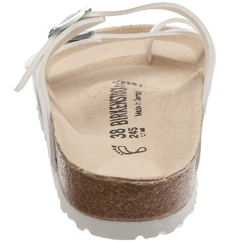 Sandalias mujer sintético Birkenstock blanco para blanco material de dXXpqO