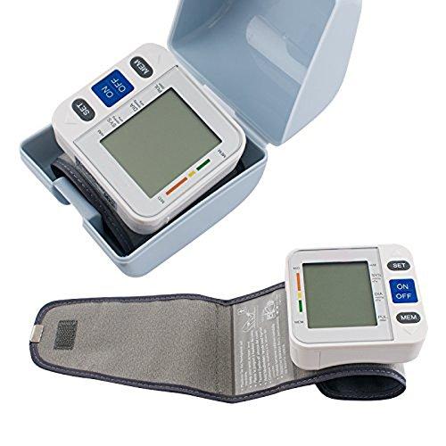 Denshine Tensiomètre numérique LCD à porter sur le poignet Mémoire 90