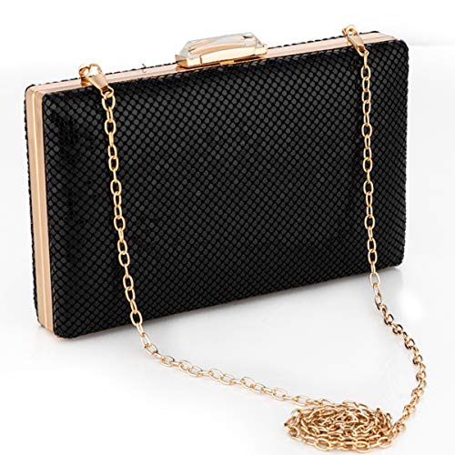 (Metal Mesh Clutch Evening Bag Women Clutch Purse for Cocktail Prom Party Wedding Handbags)