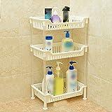 ZZHF yushizhiwujia Storage Racks Floor-Standing Plastic Heightening Multilayer Toilet Bathroom Storage Rack (Color : White)