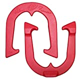 Alan Francis Signature Professional Pitching Horseshoes- Made n the USA! (Red- Single Pair (2 shoes))