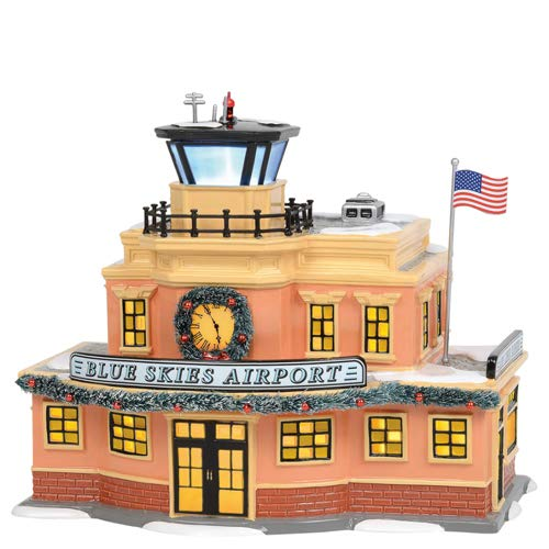 Department 56 Original Snow Village Blue Skies Airport Lit Building