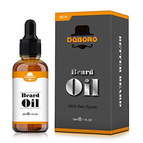 Beard Oil for Men-All Natural Unscented Beard Growth Oil for Mustache & Goatee, Leave-in Conditioner Softener Facial Hair Care Product for Fuller and Thicker Beard -1 Fl Oz Bottle