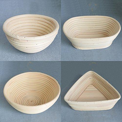 1 pieza x molde Pan Brotform lbn probando productos hechos a mano cesta de mimbre Natural, A:13cm Angelakerry