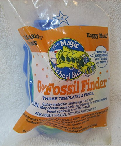 McDonalds - The Magic School Bus #4 - GEO FOSSIL FINDER (3 Templates & Pencil), - Finder Store Fossil