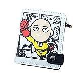 Rain's Pan One Pounch Man Anime Short Bifold PU Back Button Wallet
