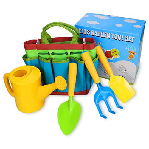 LUNIQI Kids Garden Tools Set for Kids to do Gardening & Planting, Garden Tools for Weeding or Outdoor Play, Great Gift for a Little Gardener by LUNIQI