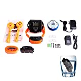 In-Ground Electric Digital Dog Pet Fence Shock Wireless Waterproof 2 Collars