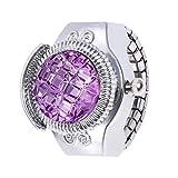 Women Watch, VANSOON Teen Girls Fashion Jewelry Round Finger Ring Watch Stone Steel Elastic Lady Girl Gift Bracelets Watch Simple Digital Watch Clearance