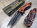 TAC Force TF-705 Series Assisted Opening Tactical Folding Knife with 3-1/4-Inch Half-Serrated Blade, Red Camo фото