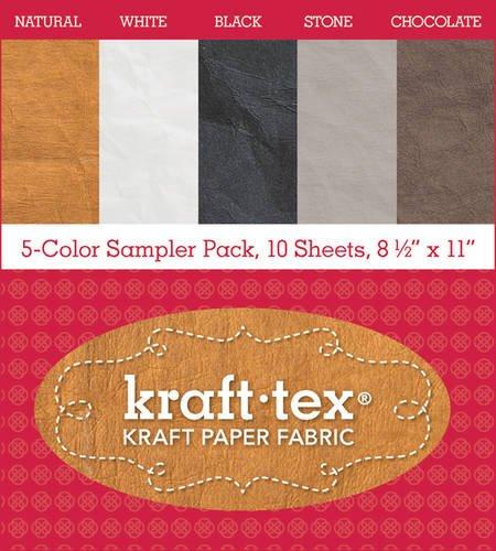 "kraft-tex Basics 5-Color Sampler Pack: 10-Sheets 8 1/2 x 11"" Sampler Pack"