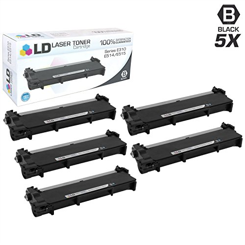 LD Compatible Toner Cartridge Replacement for Dell 593-BBKD P7RMX High Yield (Black, 5-Pack)