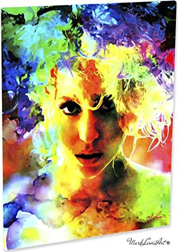 Lady Gaga Lady Gaga Study 1 Pop Art Giclee Metal Print by Mark Lewis