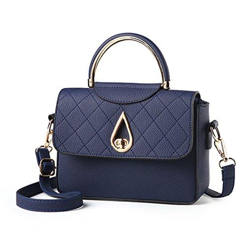 mano maletn Para Gris Bolsos Carteras Bolsos Cuero bolera bandolera Azul Oscuro Bolsos de mujer wqCpqtZHx
