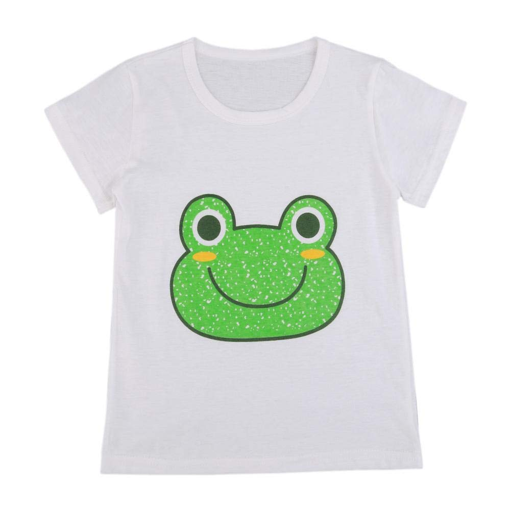 Silveroneuk Cartoon Boys Girls Kids Short Sleeve Summer Casual T-Shirt Cotton Tops