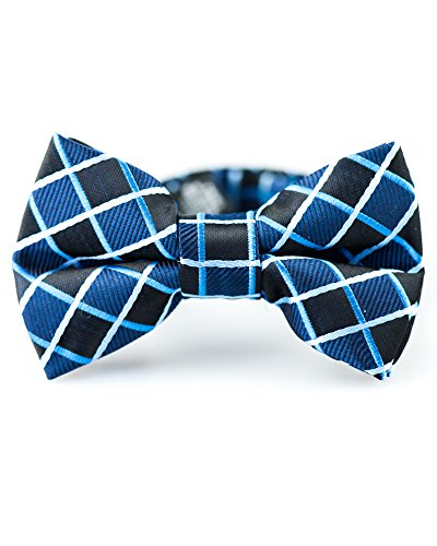 Black Banded Glass Shade (Littlest Prince Couture Black and Navy Squares Infant/Youth Bow Tie 0-8 Years)