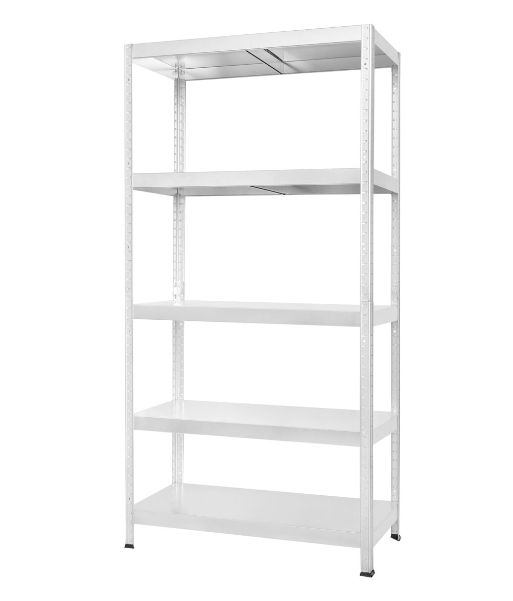 Drual - Heavy Duty Galvanized Shelving Racking Boltless 180x90x40cm. (5x Very Strong floors) Drutal Kovona