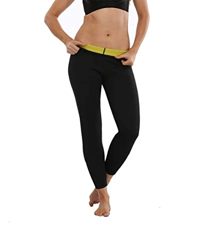 bb7900f586ed2 Image Unavailable. Image not available for. Color  ZMZ Sweat Sauna Slimming  Weight Loss Yoga Neoprene Pants Fat Burning Leggings ...