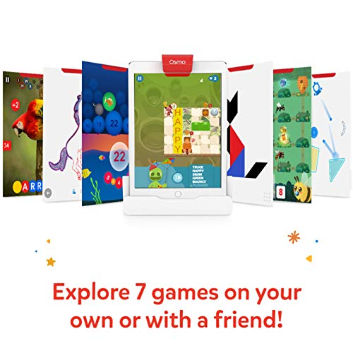 Osmo – Genius Starter Kit for iPad + Family Game Night – 7 Educational Learning Games for Spelling, Math & more – Ages 6…