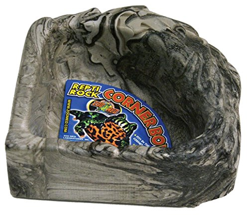 Zoo Med Reptile Rock Corner Water Dish, Large - Assorted colors (Dish Corner Rock Water)