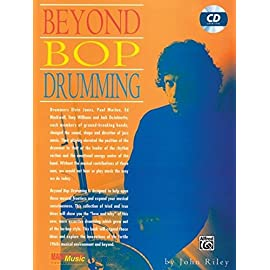 Front cover of the classic jazz drumming book The Art of Bop Drumming by John Riley