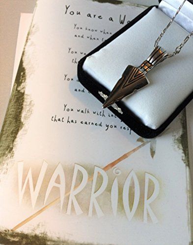 - Smiling Wisdom - Warrior Arrowhead Gift Set - Survivor, Courage Strong Strength Greeting Card - Stainless Steel Pendant Necklace & Figaro Chain - Gift for a Young Adult, Son, Daughter, Man, 2019 Grad