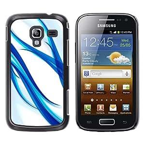 Be Good Phone Accessory // Dura Cáscara cubierta Protectora Caso Carcasa Funda de Protección para Samsung Galaxy Ace 2 I8160 Ace II X S7560M // blue aqua water white glass spring whi