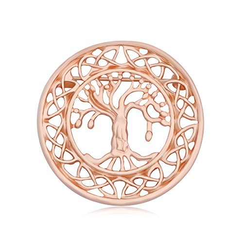 CHUANGYUN Tree Shape Jewelry Brooch Pin Corsages For Women Delicate Safety Accessories (Rose Gold)