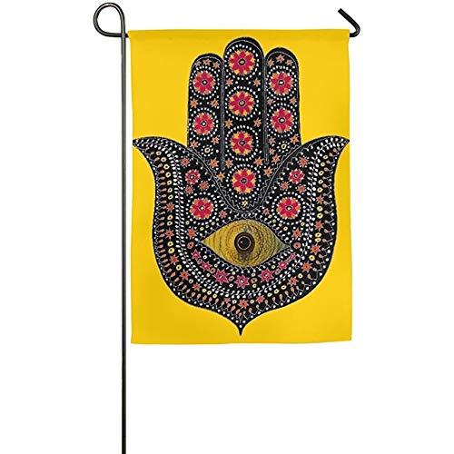 Best Cottage Garden Friends Bibles - Dozili Garden Flag Small Hamsa Pattern