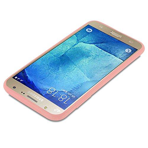 Cadorabo - Cubierta protectora Samsung Galaxy J7 (5) (Modelo 2015) de silicona TPU en diseño Candy